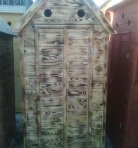 Туалеты из сосновой вагонки