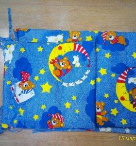 Продам бортики, одеяло и матрасик