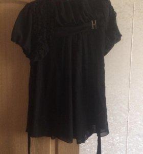 Платье чёрное с накидкой