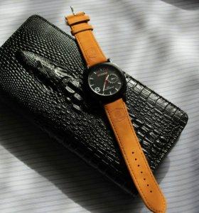 ⌚Мужской клатч с хищным нравом + часы в подарок⌚