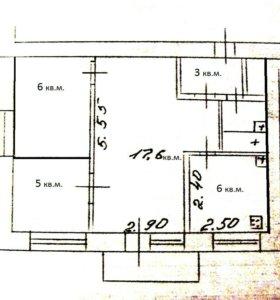 2х.ком.квартира; 41 кв.м.; 3/5 кирпич.дома