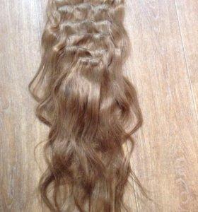 Натуральные волосы на заколках 60 см