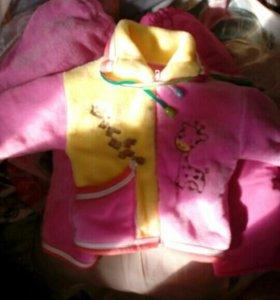 Плюшевый костюм на весну для маленькой модницы