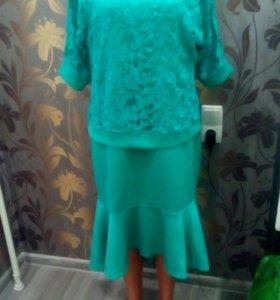 Костюм, платье+ гипюровая кофточка