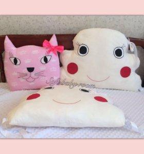 Бортики- подушки, облачка, ( зверята)