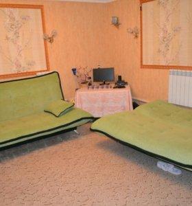 Диван и две подушки два штуки .