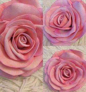 Резинка для волос с розой из искусственной замши