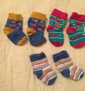 Носочки Mothercare для новорождённых (0-6м)