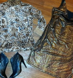 Платье и водолазка 48 размер