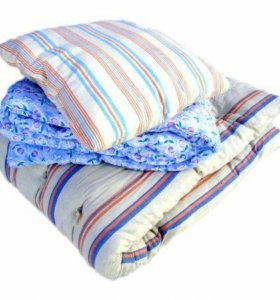 Постельный комплект для хостелов матрас +одеяло+по