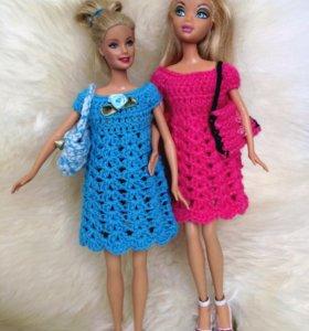 Платья для куклы  Барби (новые)
