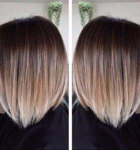 Сложное окрашивание волос- омбре, балаяж и другие