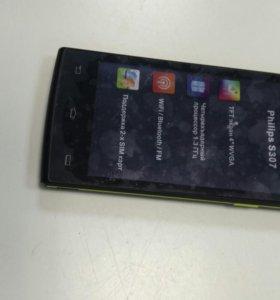 Смартфон Philips S307 Black&Yellow