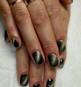 Покрытие ногтей гель-лак + маникюр