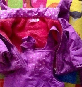Куртка штаны комбез весна утепленные,от 6 мес -1,6