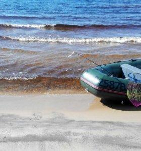 Лодка ПВХ с прицепом