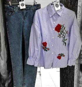 Рубашка с розами