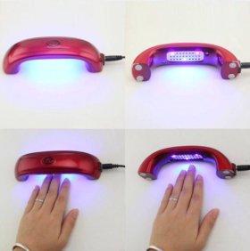Гель лампа 9w новая красная 1 шт