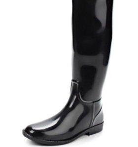 Резиновые сапоги черные новые