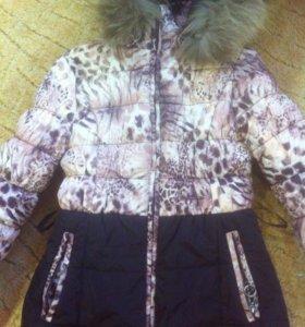 Пальто зимнее размер 140