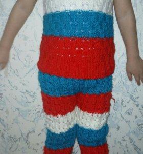 Детский вязаный костюм.