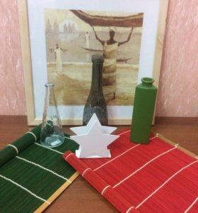 Салфетки, декоративные вазы, салфетницы, подносы