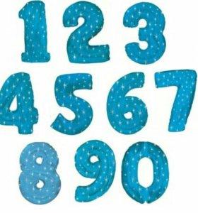 Шары цифры из фольги