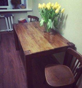 Обеденный стол ручной работы