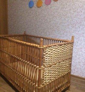 Детская плетёная кроватка