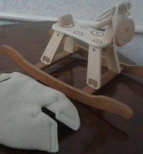 Детская деревянная качалка