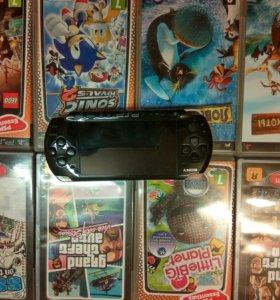 PSP SONY + 8 игр