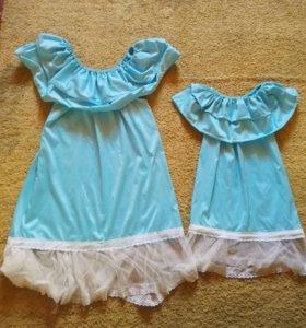 Платья мама и дочь