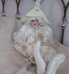 Кукла скоморох (керамика)