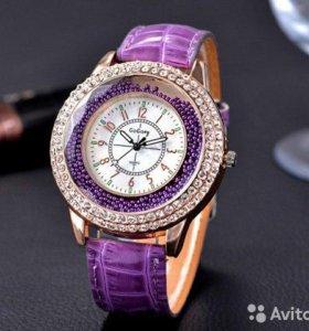 часы женские, с камнями и бисером