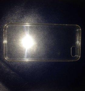 Чехол прозрачный силиконовый айфон 5,5s,5c