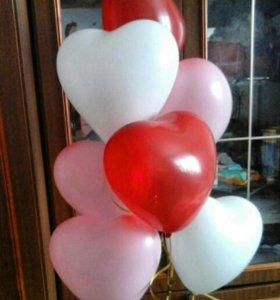 Сердечки 💓 Гелиевые шары