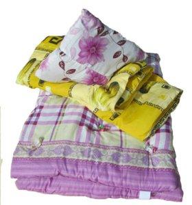 Комплект для хостелов матрац +одеяло+подушка