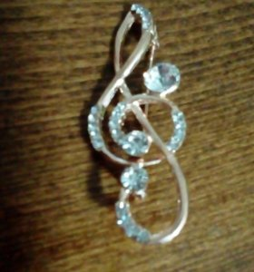 Новая брошь скрипичный ключ
