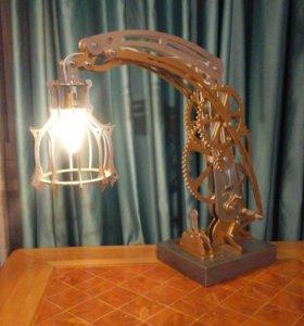 Лампа настольная, дизайнерская.