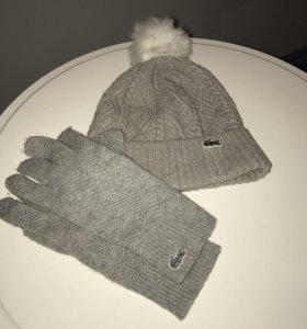 Шапка и перчатки Lacoste