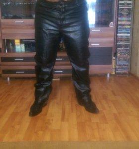 Мужские кожаные джинсы