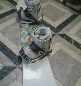 Доска с ботинками