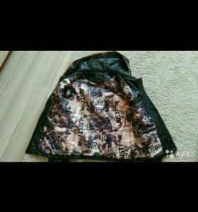 Куртка женская кожаная,утеплённая,стеганая.