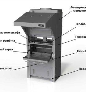 Гриль печь Vesta с искрогасителем