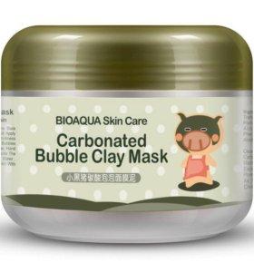 Пузырьковая маска для лица с глиной Bioaqua