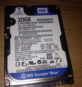 Жёсткий диск для ноутбука 320гб, WD3200BPVT