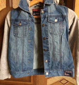 Джинсовая куртка 134-140см