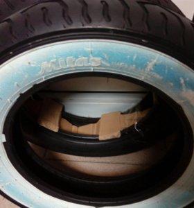 Моторезина на скутер двухцветная