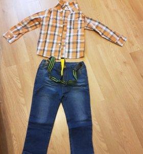 Комплект джинсы и рубашка размер 4Т