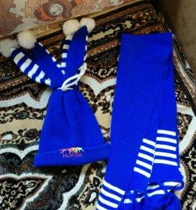 Шапка с шарфиком